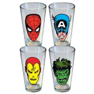 Click to get Marvel Comics Faces Glass Set