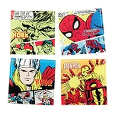 Click to get Marvel Comics 4 pc Glass Coaster Set