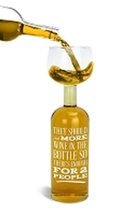 Click to get Wine Bottle Glass Time for One Glass