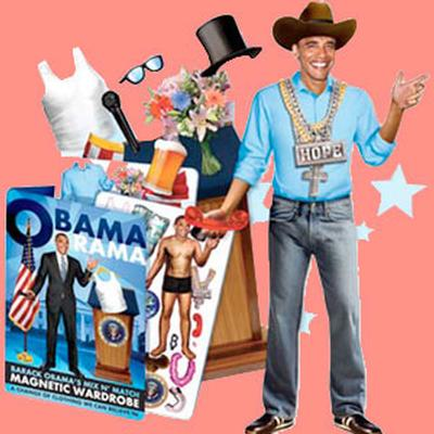 Click to get Obama Rama Magnetic Dress Up Kit
