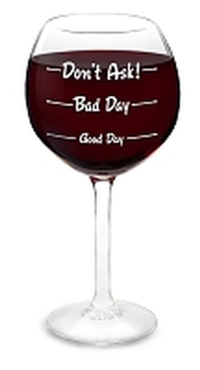Click to get How Was Your Day Wine Glass