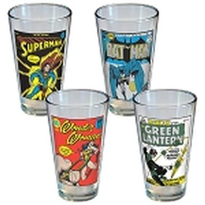 Click to get DC Comics Classic Covers Glass Set 4 Pack