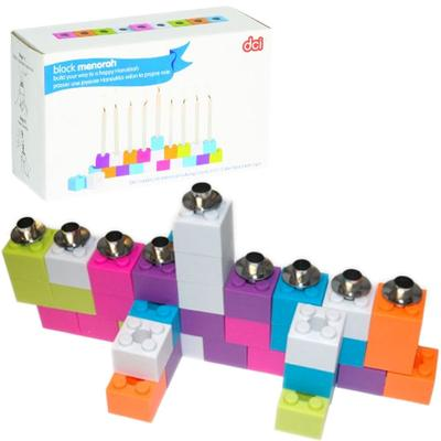 Click to get Lego Construction Block Menorah