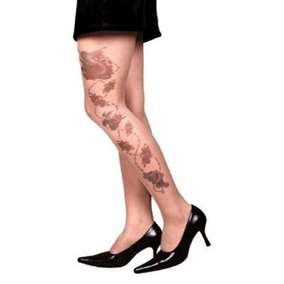 Click to get Tattoo Stocking  Rose Skull