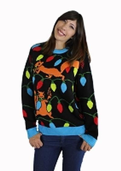 Click to get Ugly Christmas Sweater Squirrelly Christmas Lights